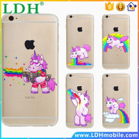 Cute Hippo Rainbow Unicorn Horse Gel Clear Tpu Phone Case For Apple Iphone Se 5 5s 6 6s Plus 6plus Soft Back Cover