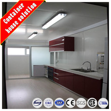 Prefabricated container modular kitchen and restorante