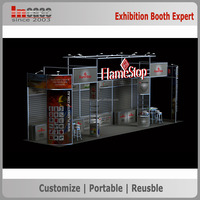 Easy installation and dismountable exhibition display booth stand rental contractor