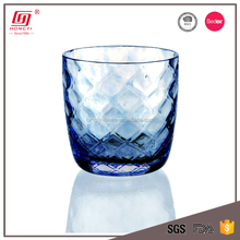 Promotional glassware home goods lead free stemless colorful drinking water glass