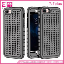 2017 Hot Shockproof PC Silicone Case Cover for iPhone 7,Anti-skid Rugged Phone Skin Case for iPhone 7 Plus