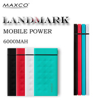 MAXCO universal portable ultra slim rohs power bank cell phone charger