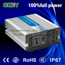 CE RoHS approved OPIP-1000w DC12v to AC 110v/220v good quality high frequency inverter sine wave used for household appliances