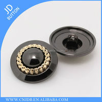 High quality luxury custom made metal sewing button for clothing gunmetal 25mm