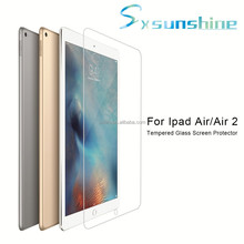 2.5D 9H 0.33thickness ultra clear tempered glass screen protector for Ipad Air Air2