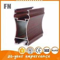 6063 T5 aluminum extrusion furniture profile for doors , windows, cabinet