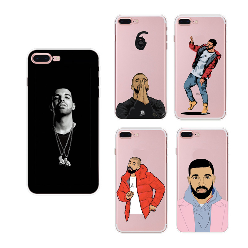 The Latest fashion drake one clear transparent soft tpu phone case for iphone 5 5s 6 6s 7 8 X plus OEM silicon cover shell cases