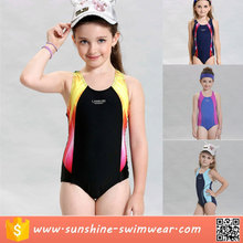 Wholesale Custom Kid Girls One Piece Sport Competition Racing Swimsuit Swimwear
