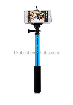 S00805 High quality stable monopod selfie stick with bluetooth remote control shutter for mobile phone