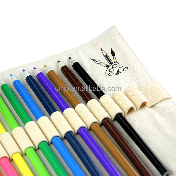 High Quality Color Pencil Sets in Fabric Rolled Bag