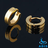 New handpolished body jewelry wholesale self piercing gold bulk hoop earrings