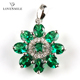 Best workmanship Lab Created Nano Green Spinel S925 sliver pendant for party queen