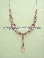 large crystal stone necklace