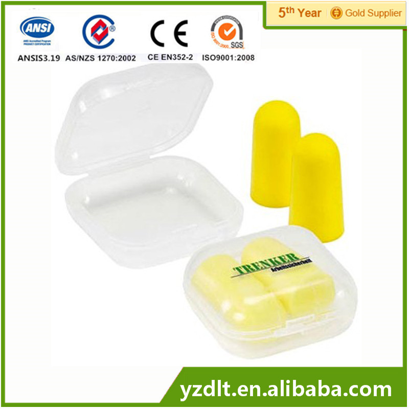PU Foam Earplugs ear plugs silicone earplug Wholesale With Cord or Without Cord With CE &EN352.2 Approved