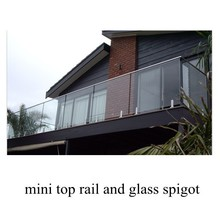 no hole deck mount frameless stainless glass railing spigots for balcony shipped to Australia