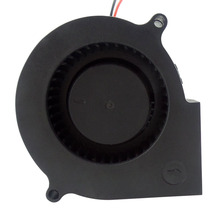 DC centrifugal mini micro low noise 12v 24v 75mm 5000rpm 7530 75x75x30mm turbine blower <strong>fan</strong>