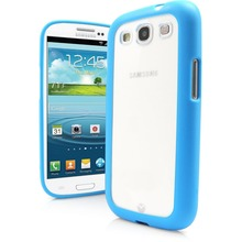 Shipping From China Fair and Lovely Soft TPU Frame PC Clear Back Cover Bumper Case For Samsung Galaxy S3