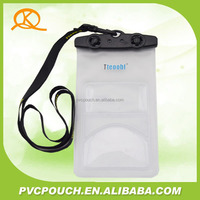 promotional mobile hanging pouch pvc clear waterproof phone bag