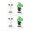 Custom Green Witch and Skeleton Solar Power Bobble Head Toys/Halloween Decoration ABS Dancing Toy Manufacturers