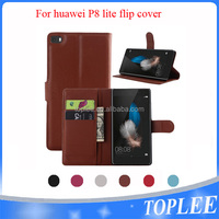 hot sale PU leather wallet flip cover for Huawei P8 lite case