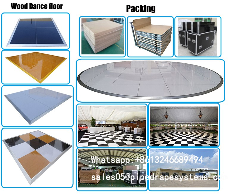 portable plywood dance floor aluminum ramp for parties and event