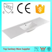 china manufacturer one piece bathroom sink and countertop