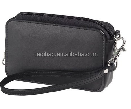 Leather Camera Cosmetic handle Case Bag