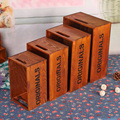 movable elegant fashion wooden storage box