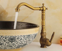 waterfall antique brass material basin kitchen sink mixer tap