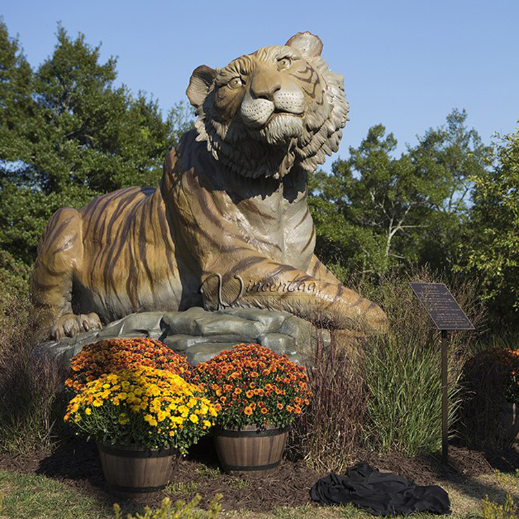 garden decorations stone carving marble tiger statue
