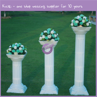 K7734 Kaiqi White Romantic Decorative Roman Wedding Pillars Flower Stand