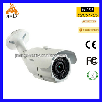 36pcs IR led, 2.8-12mm lens, Waterproof IP66 720P IP camera (JD-WP612VIP)