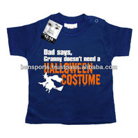 Halloween T-Shirts 100% cotton with printed of Dad Says Granny Doesn't Need a Halloween Costume - Baby T-Shirt - See more at: ht