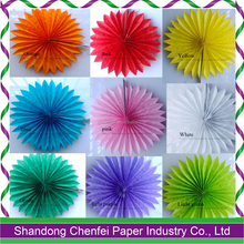 Birthday Favors Colorful Honeycomb Paper Fan for Parties