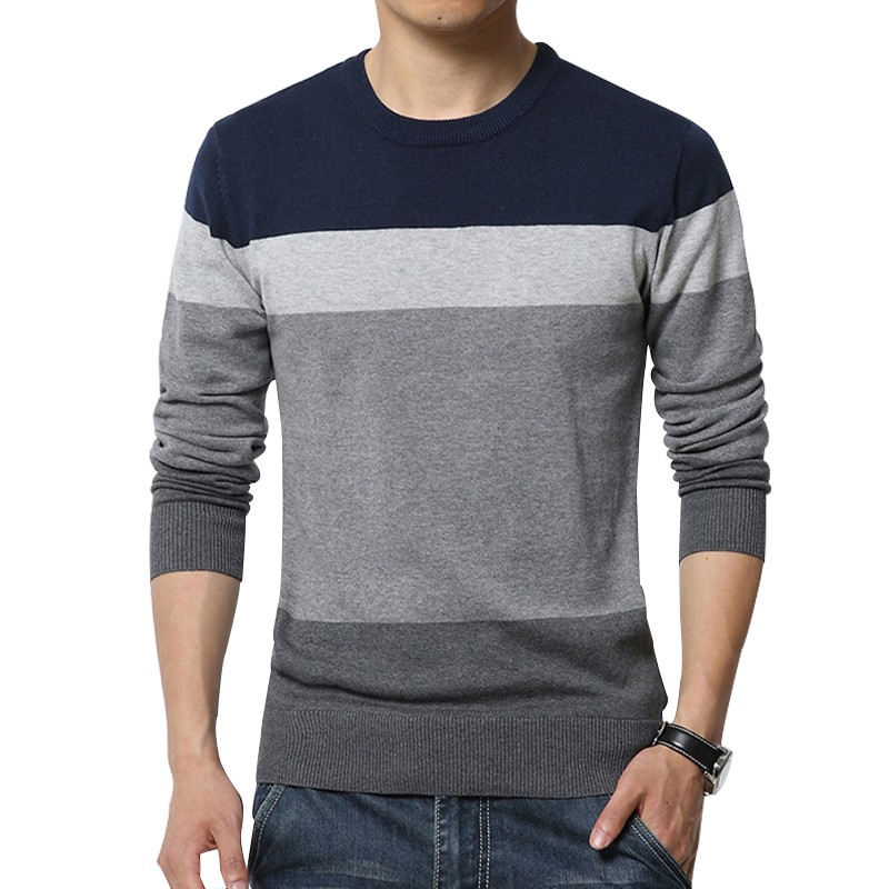 Custom the color combination sweater for men