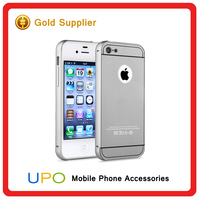 [UPO] Fashionable Acrylic PC Back Cover Aluminum Bumper Mobile Phone Case for iPhone 4 4s