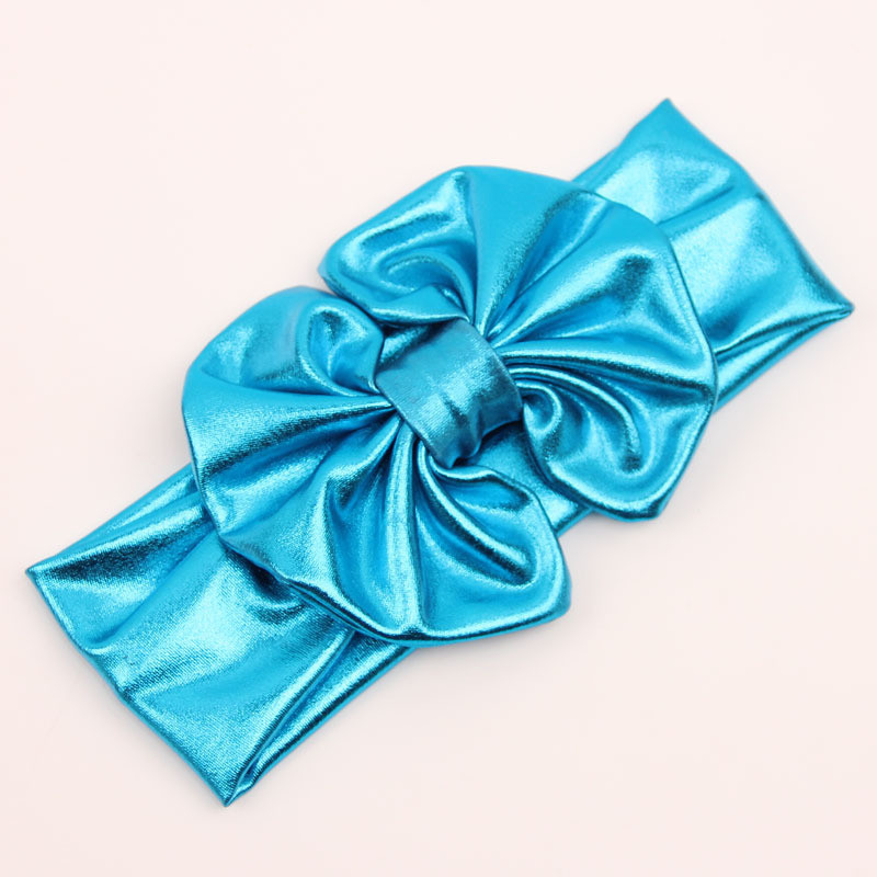 Baby Gold Stamp Toddler Girls Stretch Rabbit Bow Turban Knot Headband Hairband Headwear