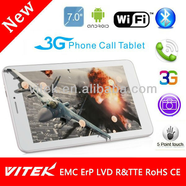 "7"" mobile phone 3g dual sim phones video call"