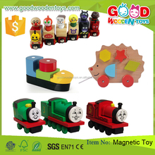 2017 New Play Thomas Train Wood Educational Magnetic Toy For Kids