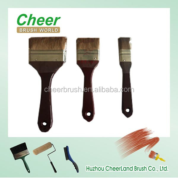 horse hair paint brushes/ high quality paint brush manufacturer china with wooden handle