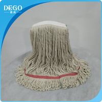 raw white cotton mop parts, spin mop replacement parts