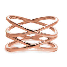 Cross Shape Gold Finger Rings Design For Women With Price