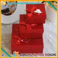 Wholesale custom plain gift box packaging, wedding cardboard storage gift bow