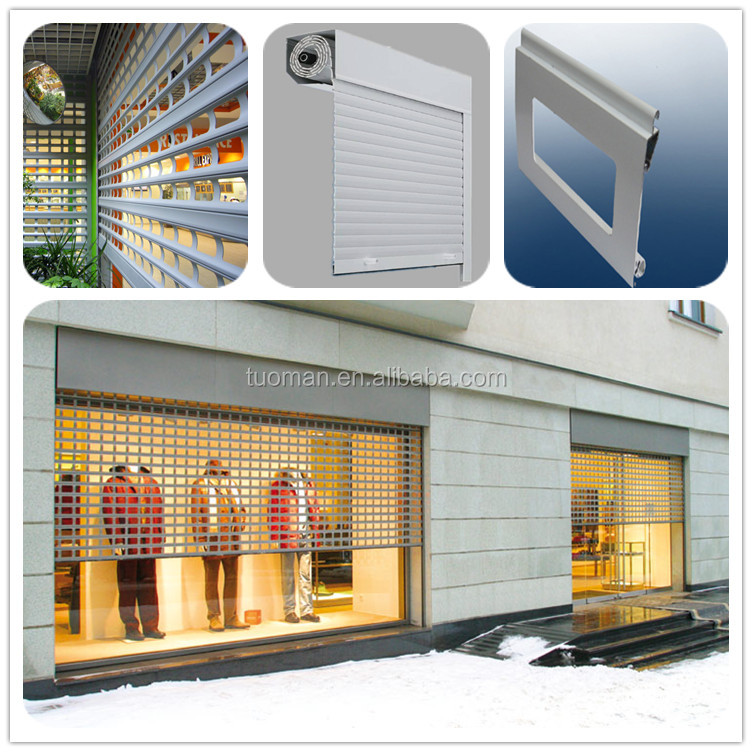 Good quality commercial grill roller shutter doors