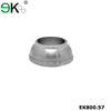 Stainless steel decorative pipe fitting round base plate with cover