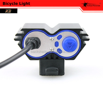 Solarstorm X2 front led MTB bicycle light for outdoor night rider