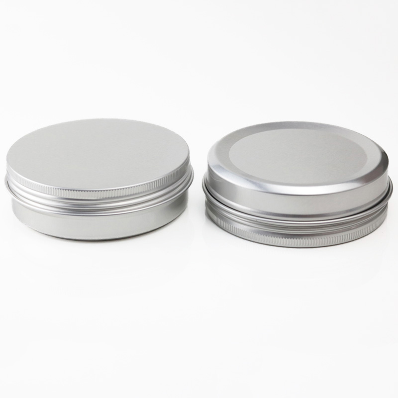 Hot Sales Low MOQ 100g 100ml Empty aluminium tin Cosmetic jar Round tin Container (NAL01I)