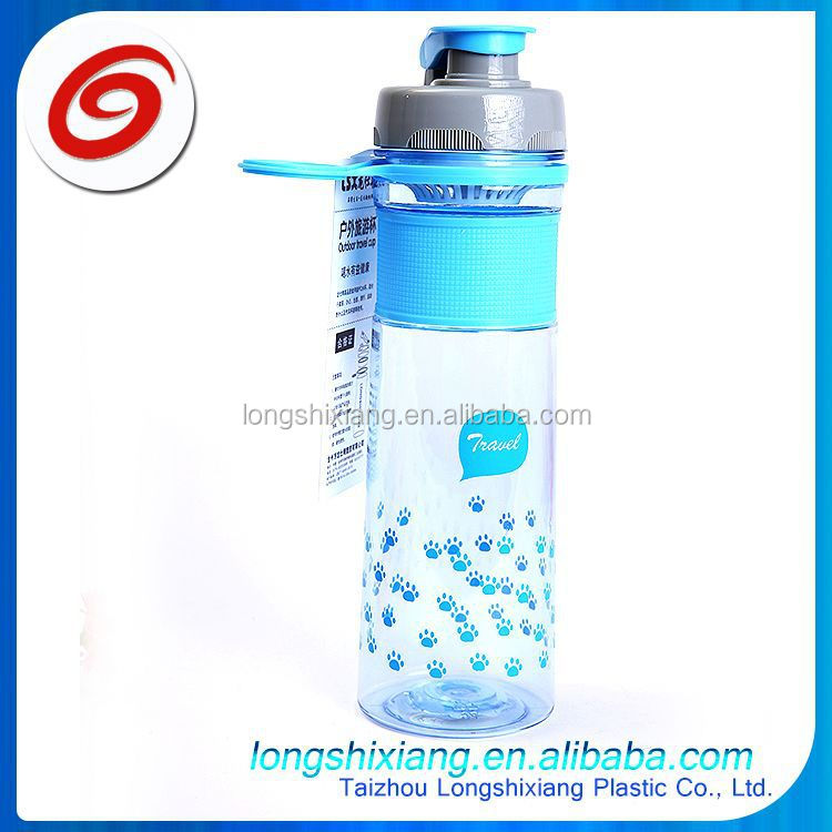 2015 hot sale plastic bottles and cups manufacturer,double layer cup,plastic water bottle with straws