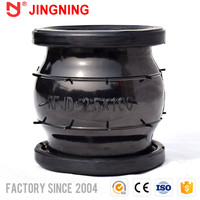 Flanged flexible joints flange din 2501 rubber expansion joint worldwide sale escapement single bellow compensator movement