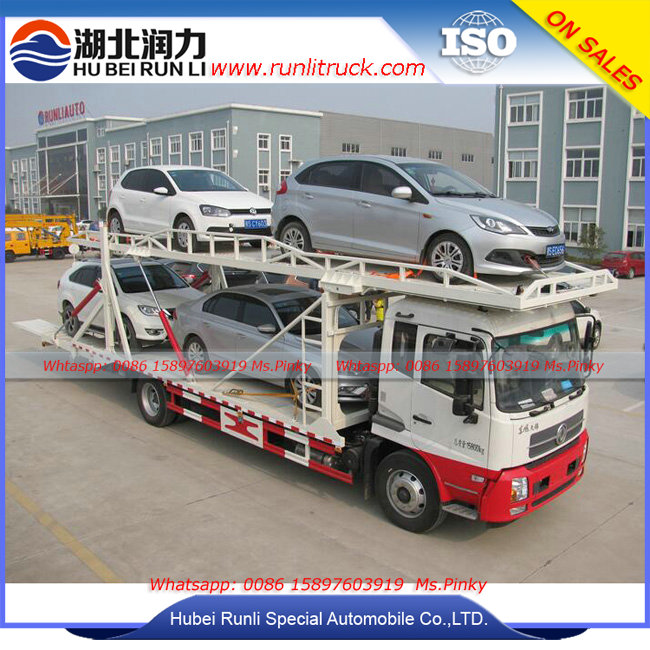 Double Layers Wrecker Trucks, New Design Towing Wrecker Vehicle for 5 units Car Transportation